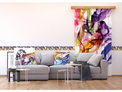 Textilní závěs COLORED SMOKE FCSL7514, 140 x 245 cm (1 ks), lehké zastínění