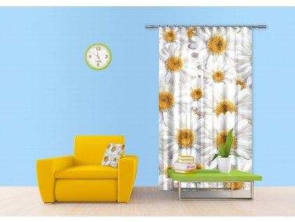 Textilní závěs FLOWERS FCSL7524, 140 x 245 cm (1 ks), lehké zastínění