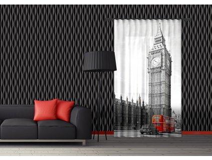 Textilní závěs ENGLAND FCSL7528, 140 x 245 cm (1 ks), lehké zastínění