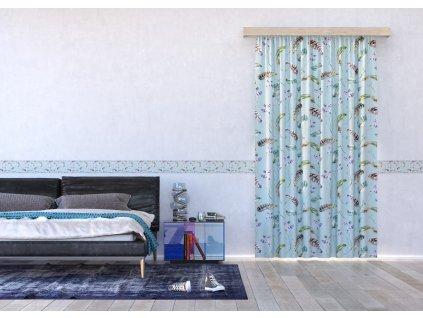 Textilní závěs FEATHERS FCSL7552, 140 x 245 cm (1 ks), lehké zastínění