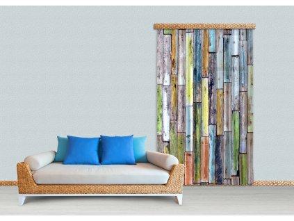 Textilní závěs WOOD FCPL6508, 140 x 245 cm (1 ks), úplné zastínění