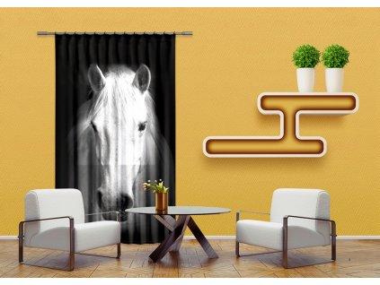 Textilní závěs HORSE FCPL6520, 140 x 245 cm (1 ks), úplné zastínění