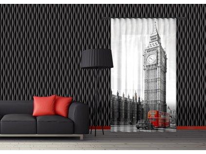 Textilní závěs ENGLAND FCPL6528, 140 x 245 cm (1 ks), úplné zastínění