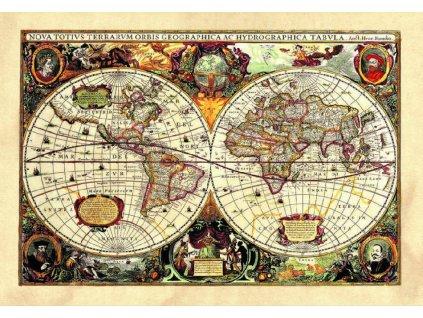 SM3434 Samolepicí dekorace Old map, 42,5 x 65 cm