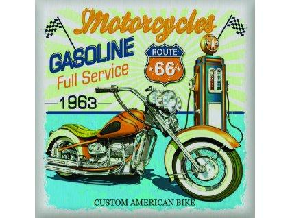 SS3851 Samolepicí dekorace USA auto, 30 x 30 cm