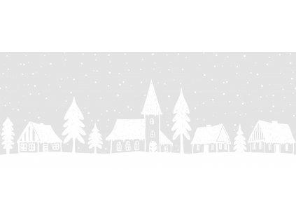 Vánoční bordura na sklo domečky
