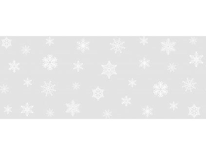 Vánoční bordura na sklo vločky a hvězdy