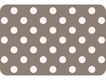 Prostírání puntík bílý na hnědém podkladu F230-2508 (12 ks)
