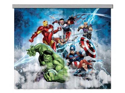 AG Design Textilní závěs Avengers 180 x 160 cm (2ks), (srpen21)
