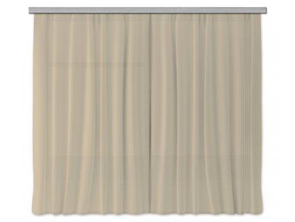 AG Design Textilní závěs tmavě béžový 180 x 160 cm (2ks), (srpen21)