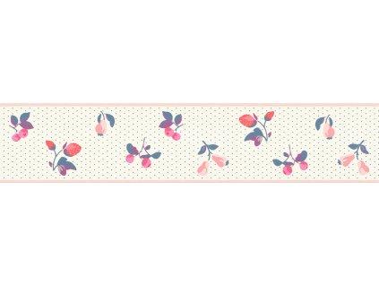 Samolepicí bordura na zeď Rasch 288604, Petite Fleur, 10,8 cm  x 5 m