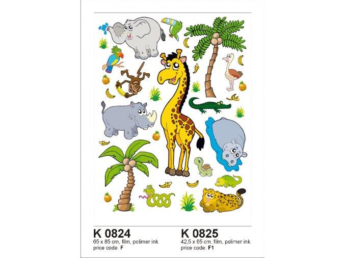 K0824 Samolepicí dekorace JUNGLE BIG 65 x 85 cm