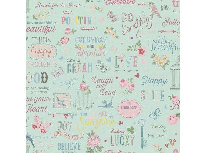 Papírová tapeta na zeď Rasch 216714, kolekce Kids & teens II, styl moderní, dětský, 0,53 x 10,05 m