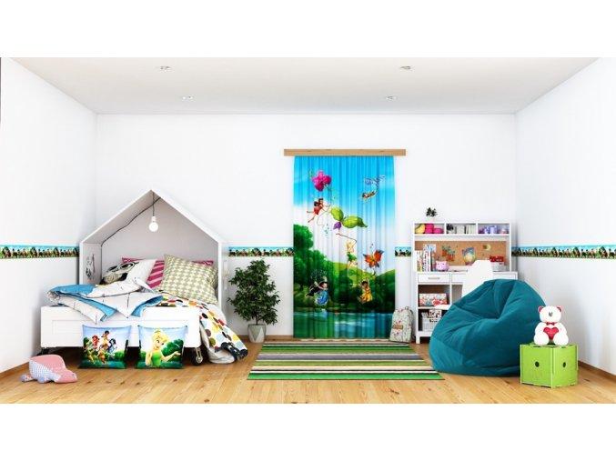 Textilní závěs FAIRIES WITH RAINBOW     FCSL7103, 140 x 245 cm (1 ks), lehké zastínění
