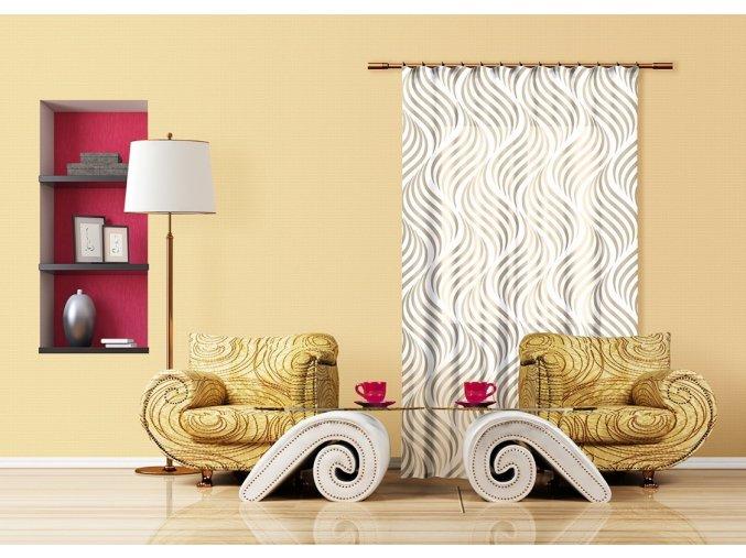Textilní závěs CREATIVE FCSL7532, 140 x 245 cm (1 ks), lehké zastínění