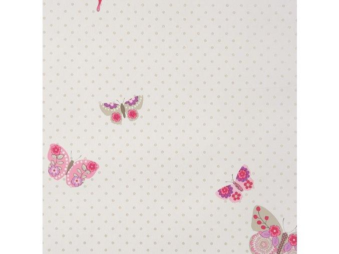 Papírová tapeta na zeď Caselio 61974015, kolekce GIRLS ONLY, materiál papír, styl moderní, dětský 0,53 x 10,05 m