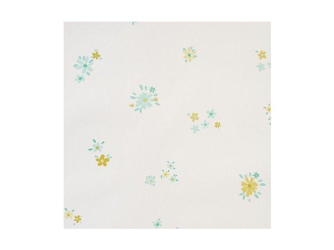 Papírová tapeta na zeď Caselio 62024026, kolekce GIRLS ONLY, materiál papír, styl moderní, dětský, květinový 0,53 x 10,05 m