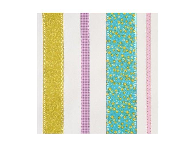Papírová tapeta na zeď Caselio 62056074, kolekce GIRLS ONLY, materiál papír, styl moderní, dětský 0,53 x 10,05 m