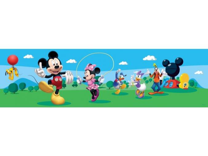 WBD8079 Samolepicí bordura, šíře 10 cm Mickey Mouse Club House , 10 x 500 cm