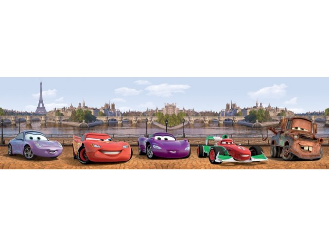 WBD8081 Samolepicí bordura, šíře 10 cm Cars in London, 10 x 500 cm