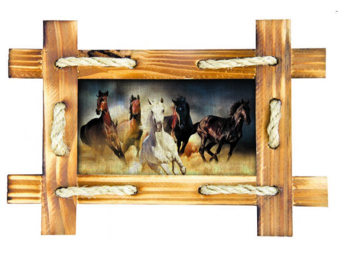 SM3432 Samolepicí dekorace Horses, 42,5 x 65 cm