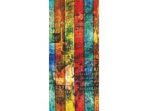 1dílná fototapeta COLOURED BOARD, 90 x 202 cm