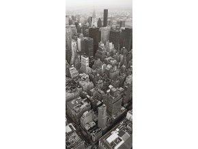 1dílná fototapeta CITY FROM BIRDS VIEW, 90 x 202 cm