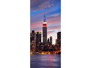AG Design 1 dílná fototapeta N.Y. SUNSET FTNV 2887, 90 x 202 cm vlies