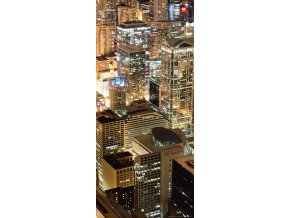 AG Design 1 dílná fototapeta NIGHT CITY FTNV 2923, 90 x 202 cm vlies