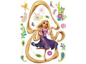 Samolepicí dekorace RAPUNZEL AND HER HAIR 65 x 85 cm