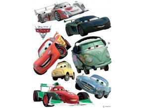 Samolepicí dekorace CARS 2: MCQUENN & FRANCESCO BERNOULLI 65 x 85 cm