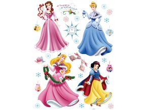Samolepicí dekorace PRINCESSES NEW YEAR    65 x 85 cm