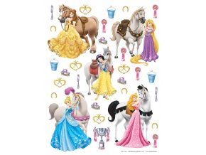DK1773 Samolepicí dekorace PRINCESS WITH HORSES    65 x 85 cm