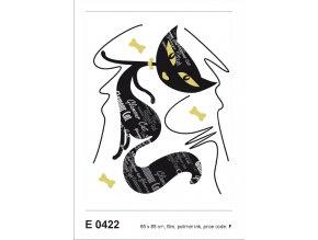 E0422 Samolepicí dekorace GLAMOUR CAT GIRL 65 x 85 cm