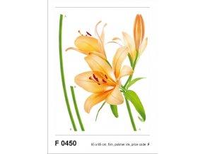F0450 Samolepicí dekorace LILY ORANGE 65 x 85 cm