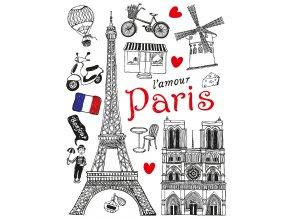 Samolepicí dekorace PARIS 65 x 85 cm