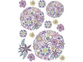 Samolepicí dekorace FLOWERS 65 x 85 cm