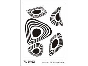 Samolepicí velourová dekorace BLACK FLOCK MODERN ORNAMENT 65 x 85 cm