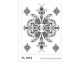 Samolepicí velourová dekorace FLOCK ORNAMENT 65 x 85 cm