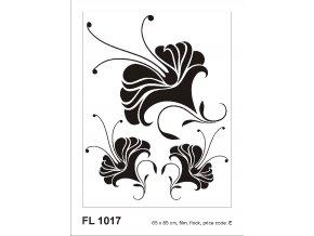 Samolepicí velourová dekorace NOSTALGI FLOWER 65 x 85 cm
