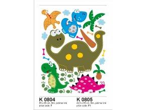 K0804 Samolepicí dekorace DINOSAURIUS VELKY 65 x 85 cm