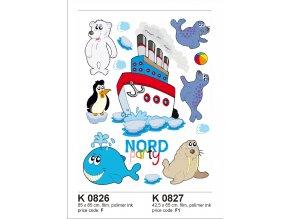 K0826 Samolepicí dekorace NORTH BIG 65 x 85 cm