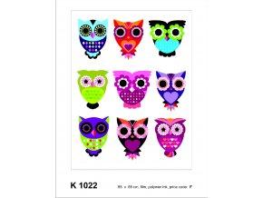 Samolepicí dekorace OWLS 65 x 85 cm
