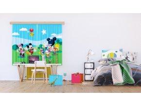 Textilní závěs MICKEY AND FRIENDS FCSXL4307, 180 x 160 cm (2 ks)