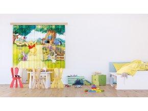 Textilní závěs HAPPY WINNIE FCSXL4309, 180 x 160 cm (2 ks), lehké zastínění