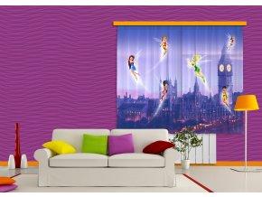 Textilní závěs FAIRIES IN LONDON FCSXL4314, 180 x 160 cm (2 ks)