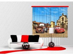 Textilní závěs CARS FCSXL4315, 180 x 160 cm (2 ks), lehké zastínění