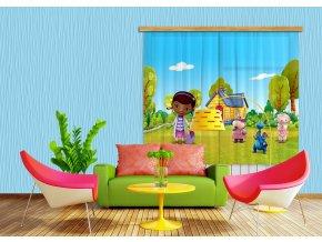 Textilní závěs DR. MCSTUFFINS FCSXL4318, 180 x 160 cm (2 ks)