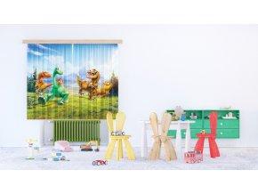 Textilní závěs THE GOOD DINOSAUR FCSXL4324, 180 x 160 cm (2 ks), lehké zastínění