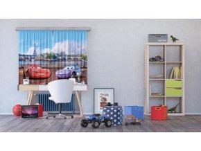 Textilní závěs CARS FCSXL4325, 180 x 160 cm (2 ks), lehké zastínění